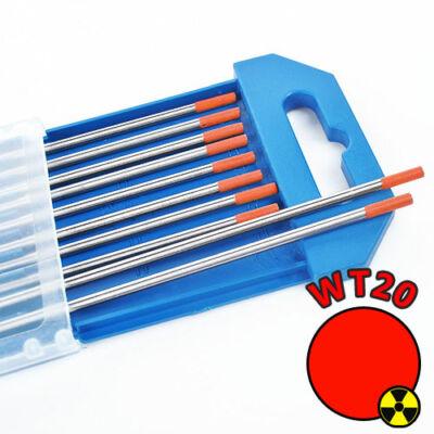 Volframelektróda, WT-20, piros, 1,0 x 175 mm
