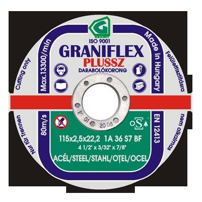 Darabolókorong, Graniflex, acél, 125 x 1,0 x 22,2 mm