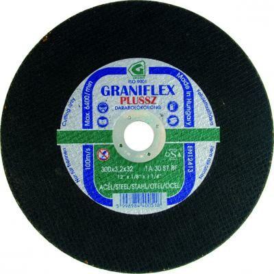 Darabolókorong, Graniflex, acél, 230 x 3,2 x 22,2 mm