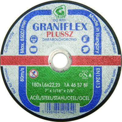 Darabolókorong, Graniflex, acél, 115 x 1,6 x 22,2 mm