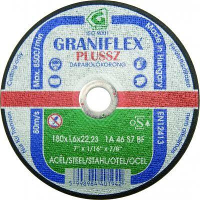 Darabolókorong, Graniflex, acél, 115 x 1,0 x 22,2 mm