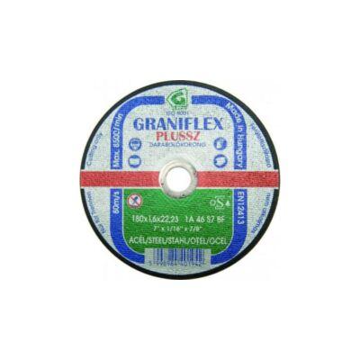 Darabolókorong, Graniflex, acél, 1A46, 180 x 2,5 x 22,2 mm