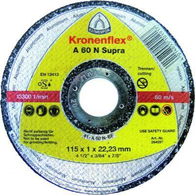 Darabolókorong, Klingspor, alumínium, 125 x 1,0 x 22,2 mm