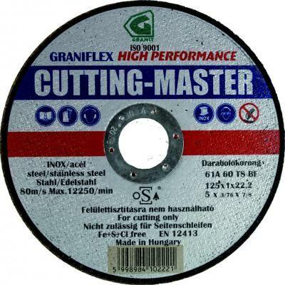 Darabolókorong, Graniflex, Cutting Master, inox, 230 x 1,9 x 22,2 mm