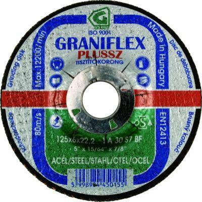 Tisztítókorong, Gránit, acél, 115 x 6 x 22,2 1A